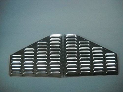 RodLouvers Pair of Jeep XJ Cherokee Hood Aluminum Louvered Cooling Panels (Bolt-on) Kit