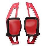 CHNY Paleta de Cambio de Volante Accesorios de Coche Extensión de Palanca de Cambios de Volante, para VW Tiguan Golf 6 MK5 MK6 Jetta GTI R20 R36 CC Scirocco -Rojo
