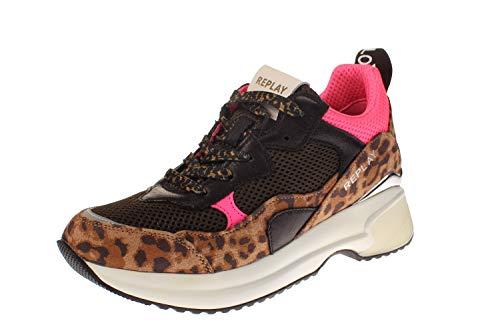 Replay Damen Plus Sneaker, Mehrfarbig (Brown Pink 2748), 40 EU