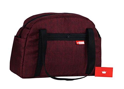 BabyLux Wickeltasche CANDY FLEX Kinderwagentasche Baby Windel Tasche Pflegetasche (CandyFlex Burgund)