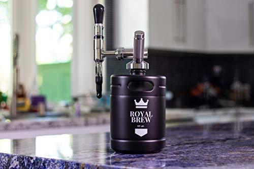 Royal Brew Nitro Cold Brew Coffee Maker Home Keg Kit System (Matte Flat Black 64 oz)