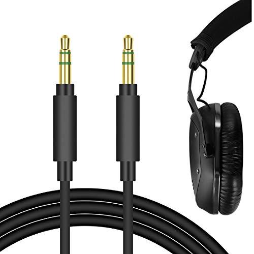 Geekria QuickFit Kabel für V-MODA Crossfade, LP2, M-100, M-80, V-80, Crossfade LP, KOSS BT540i, Pro4S, ProDj200, SP540 Kopfhörer, 3,5-mm-Stereo-Ersatz-Kopfhörer-Audio-Kabel (schwarz, 1,7 m)
