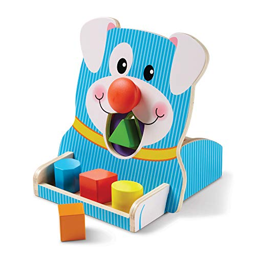 Melissa & Doug First Play Wooden Spin & Feed Shape Sorter Now $10.15