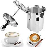 Sunil Montalatte per caffè in acciaio inox Montalatte manuale Agitatore per caffè (400ml)