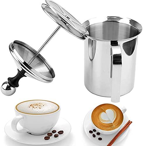 Sunil Montalatte per caffè in acciaio inox Montalatte manuale...