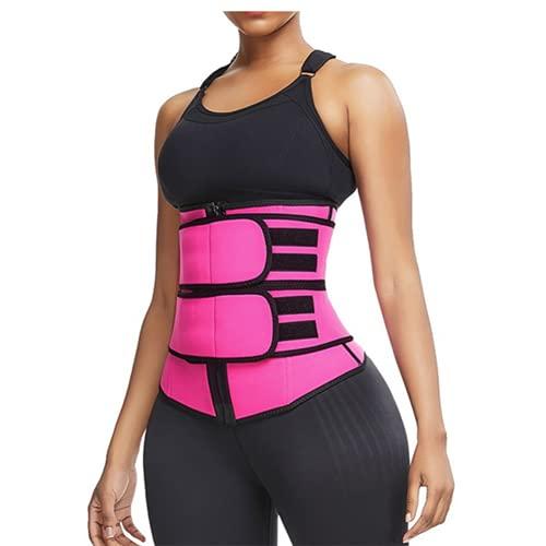 Shapewear Fajas Reductoras Mujer Deporte Cintura Entrenador Neopreno Sauna de Sudoracion Ajustable para Deporte Fitness Waist Trainer Reductora S-3XL(Size:M)