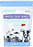 PETIPET Fish Oil Dog Supplement - Raw Diet - Skin, Coat, Inflammation - with Wild Alaskan Salmon Oil & DHA - Human Grade - Made in USA - 180 Chews