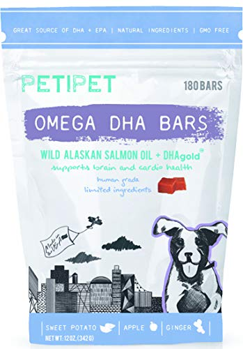 PETIPET Omega 3 Salmon Fish Oil Chew Treats for Dogs - EPA & DHA -...
