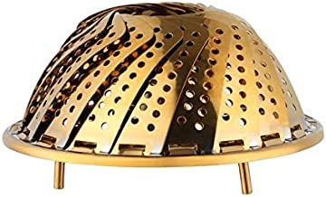 TIAHEHUAGONG Folding Stainless Steel Steamer Rack Mesh Steam Cage Heating Steaming Basket Kitchen gadgets Cookware Utensil...
