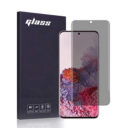 FiiMoo [2 Stück Privacy Schutzfolie Kompatibel mit Samsung Galaxy S20 Plus, [Fingerabdruckerkennung] [Vollständige Abdeckung], Anti-Spy TPU Ultra HD-Weichfilm Displayschutzfolie für Galaxy S20 Plus
