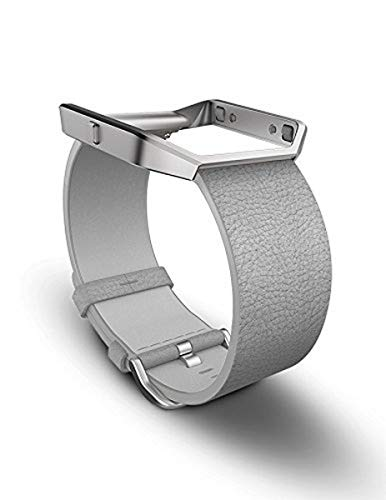 Fitbit Blaze Accessory Band, Leather, Mist Grey, Large