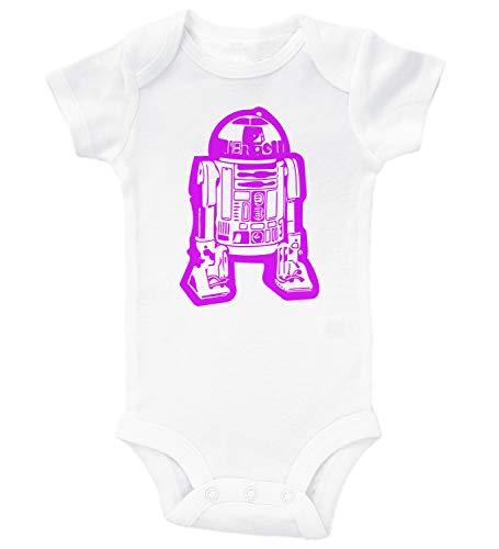 Mädchen R2d2 inspiriert von Star Wars Body R2d2 Gr. 86, weiß