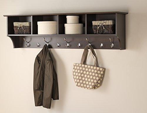 Prepac 60' Hanging Entryway Shelf, Espresso