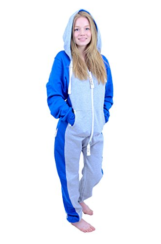 The Classic Unisex Onesie in Sports Grey and Royal Sides - 4