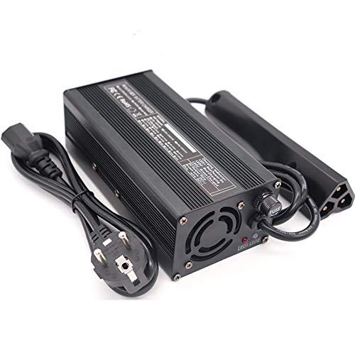 Batería De Plomo-Ácido De 36 V, Cargador De Batería De 36 V Y 5 A Carro De Golf Enchufe RXV Indicador LED Carro De Golf Cargador De Batería Carcasa De Aleación De Aluminio, Negro