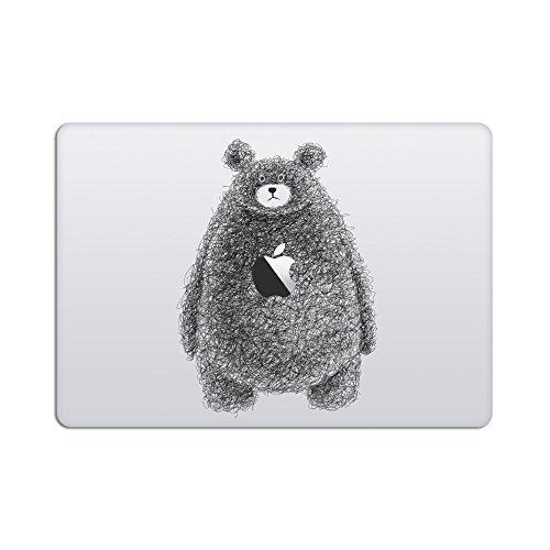 Artsybb Doodle Bear Removable Vinyl Decal Sticker Skin for Apple MacBook 12' Mac Retina Laptop (2016-2019)