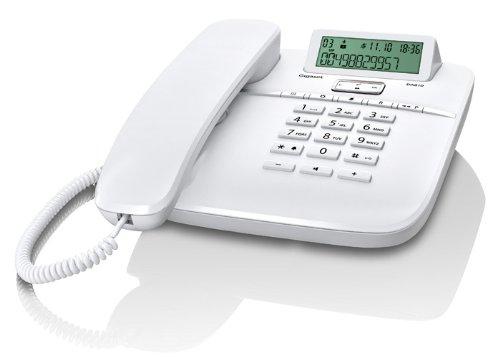 Gigaset DA610 - Schnurgebundenes Telefon - klassisches Schnurtelefon mit Direktruf und Freisprech Funktion - Hörgeräte kompatibel, weiß