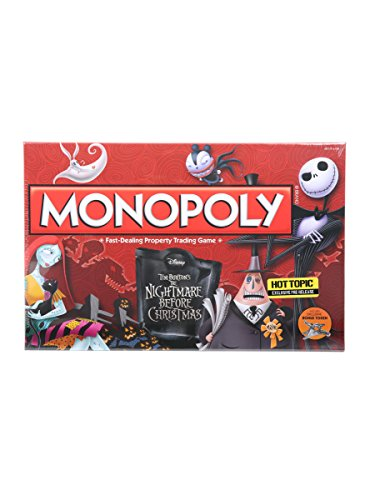 Tim Burton's The Nightmare Before Christmas Monopoly Hot Topic Exclusive Pre-Release
