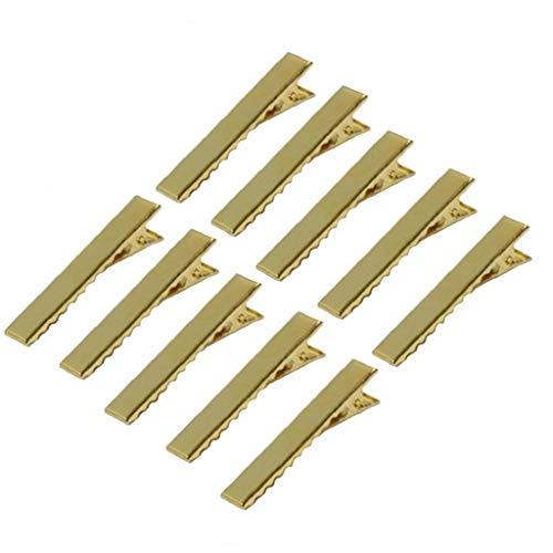 Ruluti Clips de Oro 10pcs Individual Metal de Punta del Pelo de Las Horquillas de Korker Arco de Estilo de Pelo Herramientas Accesorios