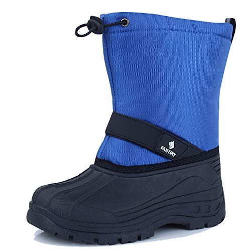 DESTURE Kids Snow Boots,Boys Girls Winter Boots Waterproof Snow Shoes Cold Weather Outdoor Boots(Toddler/Little Kid/Big Kid),U519WXZ001,RoyalBlue,34