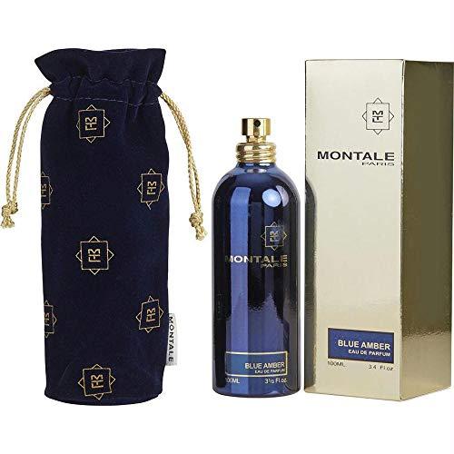 MONTALE Blue Amber Eau de Parfum Spray, 3.3 Fl Oz