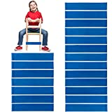 20 PCS Thick Natural Latex Stretch Chair Fidget Bands Stretch Foot Bands ADHD ADD SPD Autism Sensory Needs Workout Chair Bands for Kids with Fidgety Feet for Classroom and Home 10 PCS (Blue-20PCS)