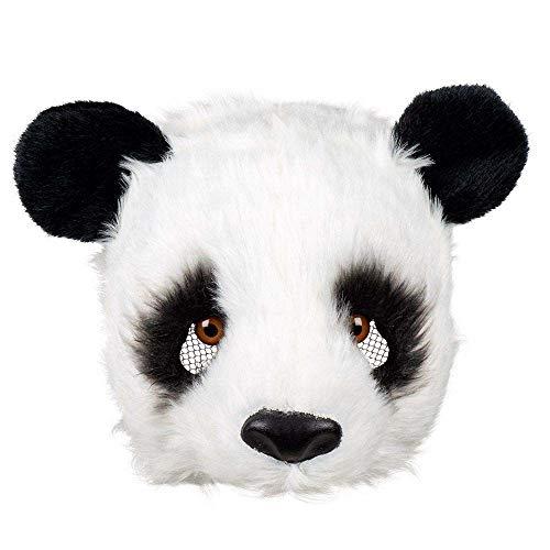 Boland 56753 - Plüsch-Halbmaske Panda, Einheitsgröße, Schwarz und Weiß, Gesichtsmaske, Tiermaske, Fellmaske, Bär, Accessoire, Kostüm, Verkleidung, Karneval, Fasching, Mottoparty