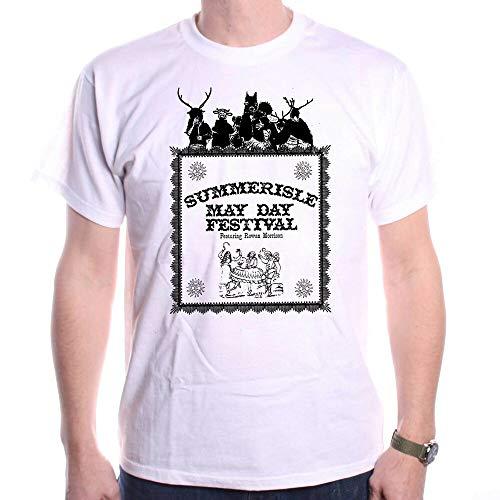 PUB Inspired by The Wicker Man T Shirt - Summerisle Midsummer Festival Cult Movie White