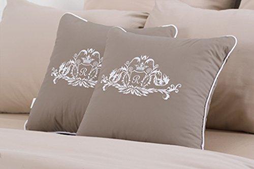 sei Design ® Deko-Kissen Royal Ambience mit hochwertige Stickerei – 45x45 cm, passend Tagesdecke Royal Ambience.