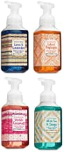 Bath and Body Works 4 Pack Gentle Foaming Hand Soap 8.75 Oz. Linen & Lavender, Island Papaya, Vanilla Coconut and White Tea & Sage.