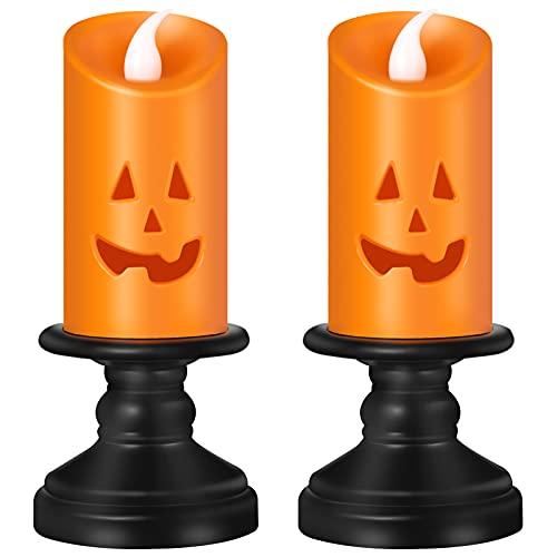 2 Pumpkin Shape Led Lights