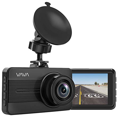 VAVA Dash Cam 1080P Full HD Car Dvr Dashboard Camera, Driving Recorder with 3 Inch LCD Screen, Motion Detection, Loop Recording (Renewed)