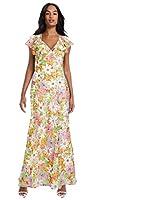 エイソス マキシドレス レディース ASOS DESIGN soft bias maxi dress with ruffle in vintage floral print strawberry fiel / UK16|17号(XXL-3L)相当 102d [並行輸入品]