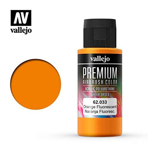 Vallejo Premium RC Colores acrílicos para modelismo/DE aerografía 60ML (62033Orange flúor)