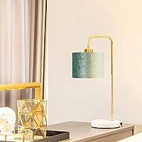 金属製のテーブルランプ、モダンなE27テーブルランプ、寝室のベッドサイドランプ、読書灯、ベルベットのランプシェードの常夜灯、ベッドサイドテーブル、オフィス、ダイニングテーブル、カフェ、屋内ライト、緑