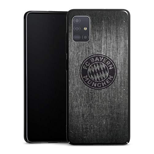 DeinDesign Hard Case kompatibel mit Samsung Galaxy A51 Schutzhülle schwarz Smartphone Backcover Metallic Look FCB FC Bayern München