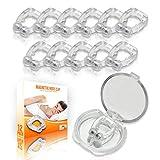 Mobi Lock Clip Antironquidos Magntico - Clip Nasal de Silicona Para Ronquidos - Clip Anti-Ronquidos para Menos Ruido al Dormir - Clip Nasal para Dormir Mejor - Tapones Reutilizables, Pack De 12