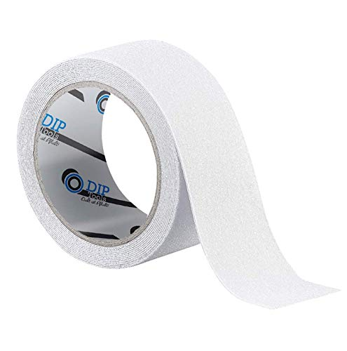 Antislip strepen (50mm x 10m) in zwart, transparant of zwart-geel | anti-slip sticker antislip grip band slip tape griptape lijm voor trap douche ladder 50mmx10m transparant