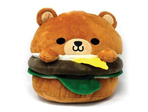Hamburger Bear Plush 8' Soft Cute Design Cheese Burger for Decoration Food Party Gift