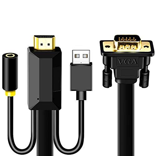 SOONHUA Cable Hdmi a Vga Cable Adaptador Vga Cable Adaptador de Alta...