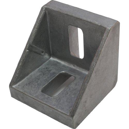 10 x Winkel, Aluwinkel, 45 42x42x42 mm M8 Nut 10 Alu