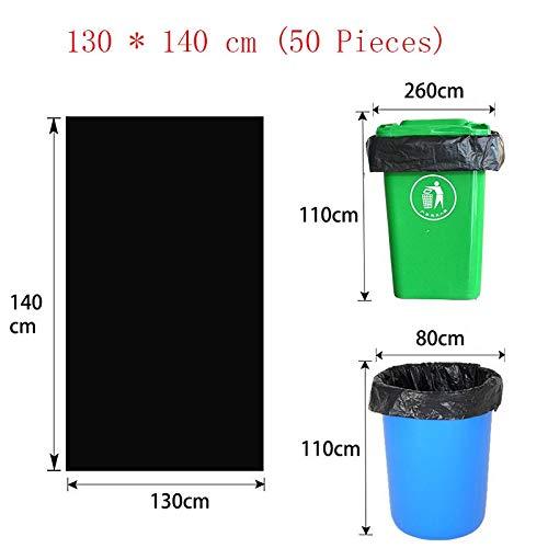 LYX Großer Müllsack verdicken und erhöht die Einweg-Kunststoff-Extra Heavy Schwarze Tasche Property Reinigung (Size : 130 * 140cm)