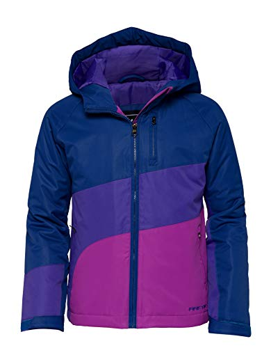 Arctix Girl's Frost Insulated Winter Jacket, Blue Night Navy, Medium
