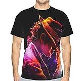 Mj Michael Jackson マイケルジャクソン メンズ Tシャツ 半袖 丸首 薄手 快適 ファッション 柔かい おしゃれ ゆったり スポーツウェア 下着 インナー 春夏秋 肌着 シャツ