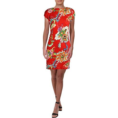 Lauren Ralph Lauren Damen Etuikleid mit Blumenmuster - mehrfarbig - Medium Petite