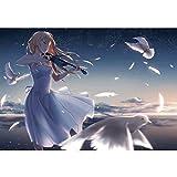 Puzzle - Chica Tocando el violín 300/500/1000/1500 Piezas para niños, Adolescentes, Adultos, Juguete, Manga, Rompecabezas, Regalo de cumpleaños para niños, AB27 QW Store (Color : A, Size : 300PC)