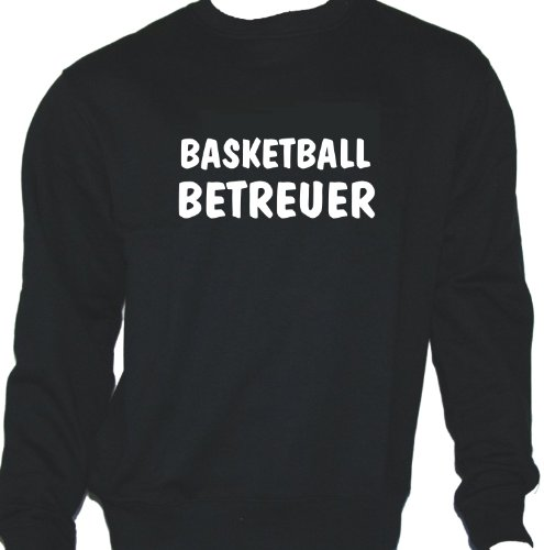 Basketball Betreuer; Sweatshirt schwarz, Gr. M