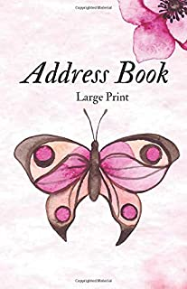 Address Book Large Print: For Contacts, Addresses, Phone Numbers, Emails & Emergency reference