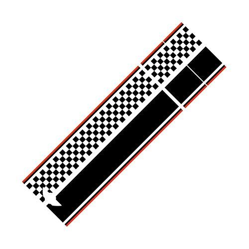 DMKJ Calcomanía para Capó Delantero De Coche Pegatinas Rayas para Maletero para Mini para Cooper S One R55 R56 R60 R61 F54 F55 F56 F60 Countryman Clubman (Color : Negro, Talla : R55)