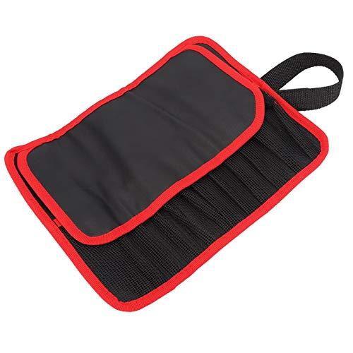 DAUERHAFT Aufbewahrungstasche für Angelwerkzeuge Tasche für Angelwerkzeuge 11.8x8.7in, zum Angeln(red)